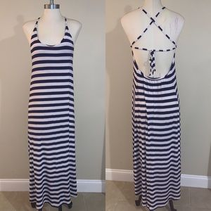 Victoria's Secret Striped Strap Back Maxi Dress M